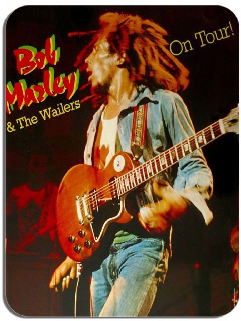 Bob Marley On Tour Vintage Poster Mouse Mat. High Quality Reggae Rasta Wailers Music Mouse Pad